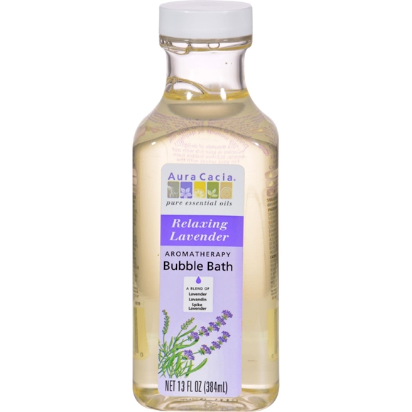 Picture of Aura Cacia Aromatherapy Bubble Bath Relaxing Lavender - 13 fl oz