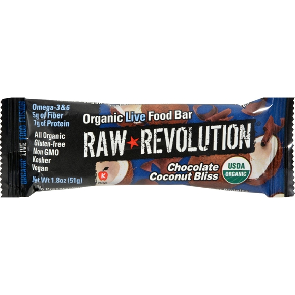 Picture of Case of 12 Raw Revolution Bar - Organic Coconut Bliss - 1.8 oz