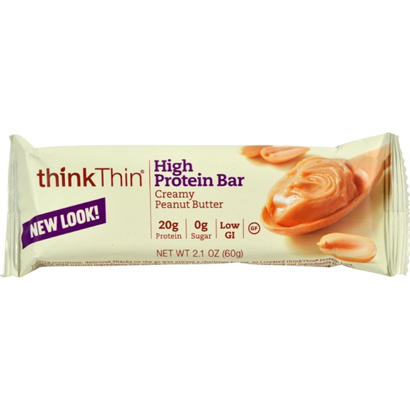 Picture of Case of 10 Think Products Thin Bar - Creamy Peanut Butter - 2.1 oz