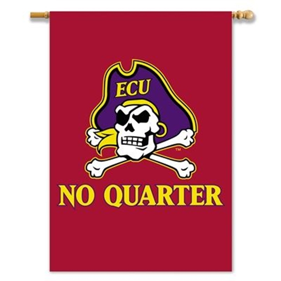 "Picture of 2-Sided 28"" X 40"" Banner W/ Pole Sleeve East Carolina Pirates - 96628"