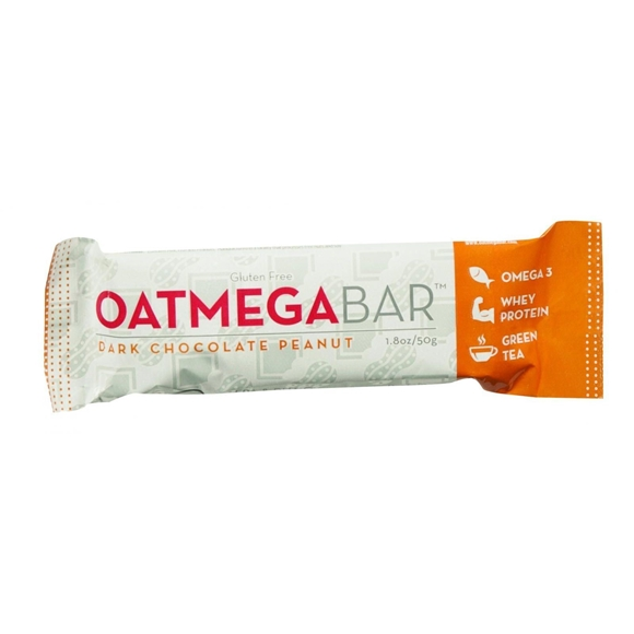 Picture of Case of 12 Oatmegabar Protein Bar - Dark Chocolate Peanut - 1.8 oz Bars