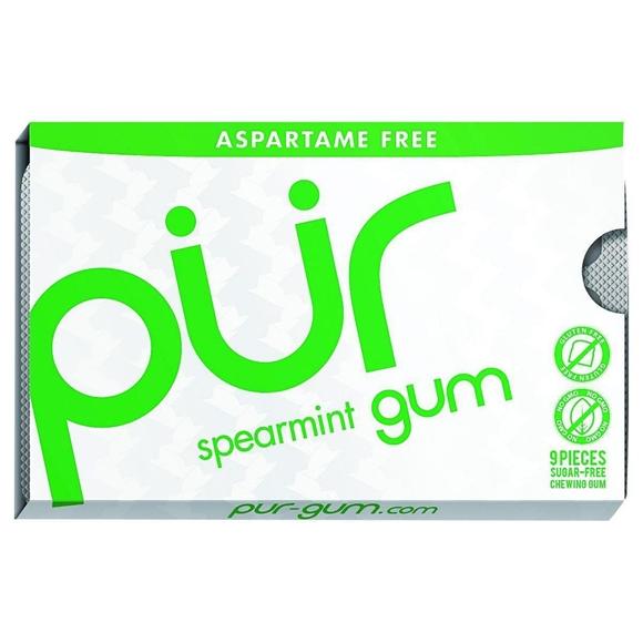 Picture of Pur Gum - Spearmint - Aspartame Free - 9 Pieces - 12.6 g - Case of 12