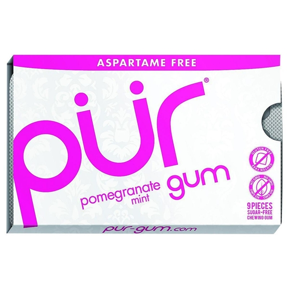 Picture of Pur Gum - Pomegranate Mint - Aspartame Free - 9 Pieces - 12.6 g - Case of 12