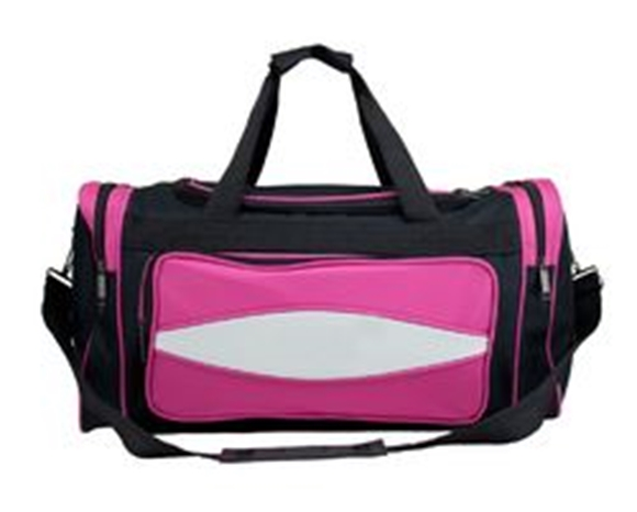 Picture of 20 Inch Pink 600HD Tuff Cloth Canvas Duffel Bag